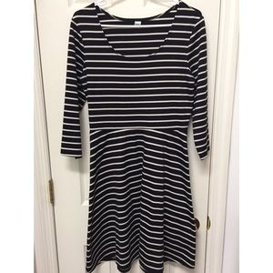 Old Navy Striped Fit & Flare Dress